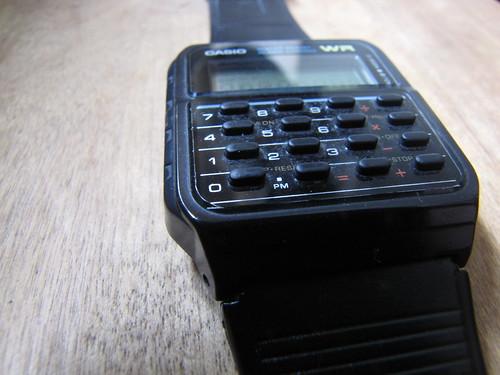 My husbands old battered calculator watch