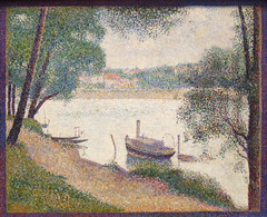 Gray Weather, Grande Jatte, by Georges Seurat (Uncle Buddha) Tags: new york city nyc newyorkcity trip travel vacation usa holiday ny newyork art tourism museum america painting french us gallery unitedstates united states metropolitan pointillism usa2008