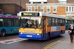 Centrebus 107, P27MLE. (EYBusman) Tags: bus london buses town coach pointer leicester centre transport bedfordshire passenger dennis armchair dart regional luton brentford holdings plaxton centrebus p27mle servics eybusman