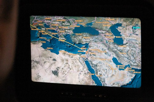 Our Flight Path into Tel Aviv