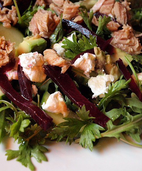 Goats cheese tuna salad