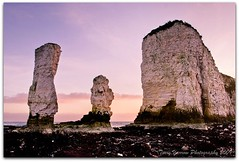 Old Harry and wife (Terry Yarrow) Tags: uk sunset sea england sky seaweed canon evening coast chalk dorset purbeck stacks studland jurassiccoast eos5d oldharryrocks dorsetcoastpath