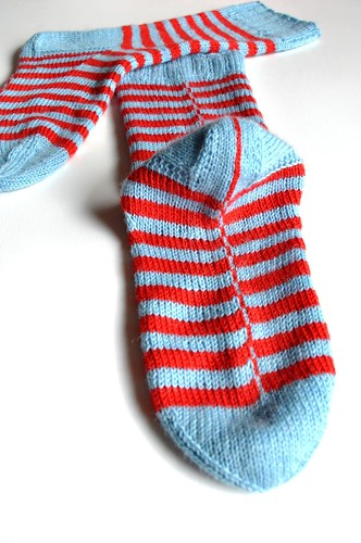 Finished 2. pair of Burning stripes socks-11