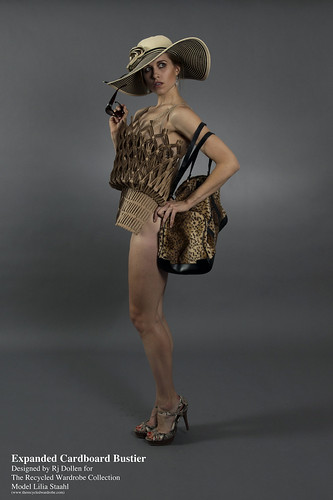 fashion recycled therecycldwardrobe expandedcardboardbustier