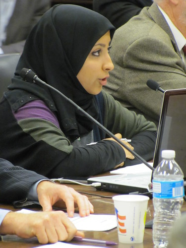 Maryam Al-Khawaja responds to a question posed by Rep. McGovern