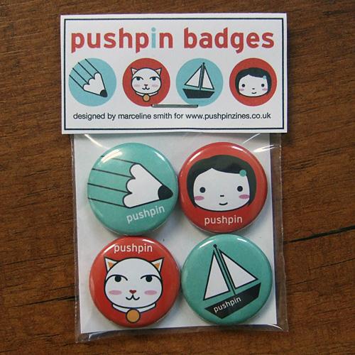 pushpin badge set