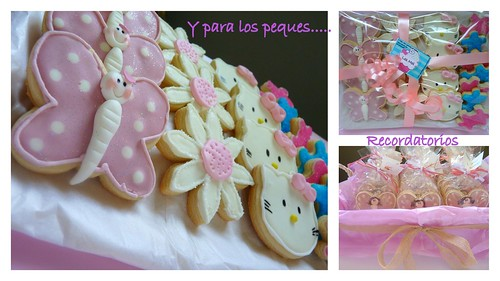 Galleta comunión mariposas  kitty1