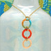 Sunlight - Macrame 3-Hoop Necklace