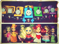 Christmas 2008 - I've been tagged (isayx3) Tags: train 35mm nikon thomas peekaboo barbie tagged f2 petites d40 35mmf2af sb400