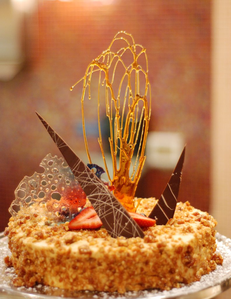 New Year's Eve cake with sugar 'firework' detail