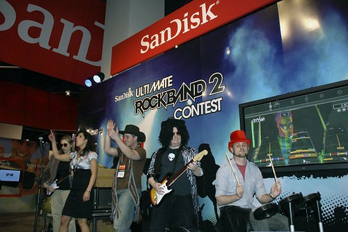 The Winning Rockband Team at CES 2009