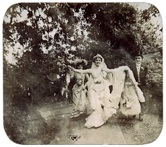 Running bride ~ late 1800s (Martin Blunt) Tags: bride running oldphotograph past grannie openarms