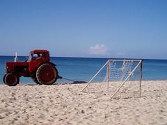 Tractor on the Beach, Trinidad Cuba (ChrisGoldNY) Tags: travel tractor beach latinamerica americalatina scans forsale cuba viajes latin trinidad albumcover caribbean bookcover nondigital cuban vacations cubano latinaamerica chrisgoldny chrisgoldberg chrisgold chrisgoldphotos
