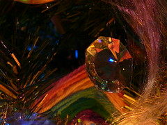 Colours ....Old and New (frazz46) Tags: glitter lights colours crystal christmastree garland refraction soe straightfromthecamera bej