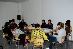 Pep Dardanyà presentando Can Xalant a los asistentes