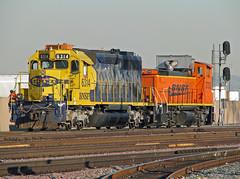 Hobart Switch Job (ksd73) Tags: railroad trains hobart vernon bnsf gp40 mp15