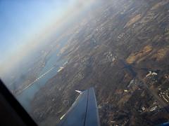 Flight DC to LaGuardia-03 (mgrenner57) Tags: bridge river geotagged washingtondc unitedstates maryland aerialview northamerica potomacriver 2009