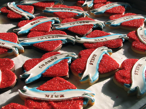 Tattoo Heart Valentine Cookies