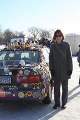 Art Car on Ice (torifarbisz) Tags: art shanty medicinelake