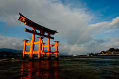 end of the rainbow (Derekwin) Tags: rainbow nikon miyajima d700 nikond700