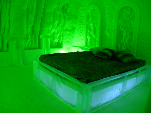Ice Hotel, cathedral themed room
