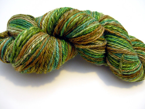 Chain-plied BFL Handspun in Earth