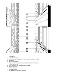 SECTION PERSPECTIVE DETAIL DRAWING (Caliper Studio) Tags: detail metal facade studio pattern drawing parts perspective surface led installation section zinc exploded caliper parametric perspectivedrawing rainscreen rhinoscript sectiondrawing detaildrawing caliperstudio sectionperspectivedrawing zincrainscreen facadeinstallation