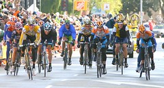 Stage 2 Finish: Michael Rogers, Chris Horner, ...