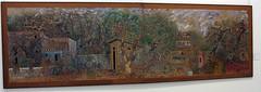 """""""Kifissia"""" (1973) - Hatzikyriakos-Ghikas Nikos (Tilemahos Efthimiadis) Tags: art museum painting paper acrylic gallery hellas nikos athens nationalgallery greece 100views 300views 200views 50views picnik   permanentcollection kifissia         dvdphotos11 address:city=athens  alexandrossoutzos  euripideskoutlidesfoundation  hatzikyriakosghikas   address:country=greece"""