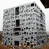 The world's most windowed office building- it looks like a cubist's idea of swiss cheese!