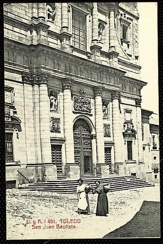 Plaza del Padre Juan de Mariana (Toledo) a principios del siglo XX. Foto Castiñeira