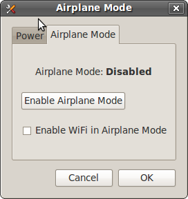 Airplane Mode checkbox