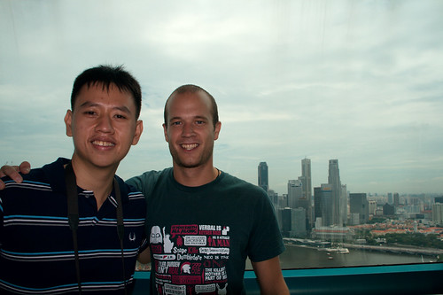 Steve and me on the Singapore Flyer