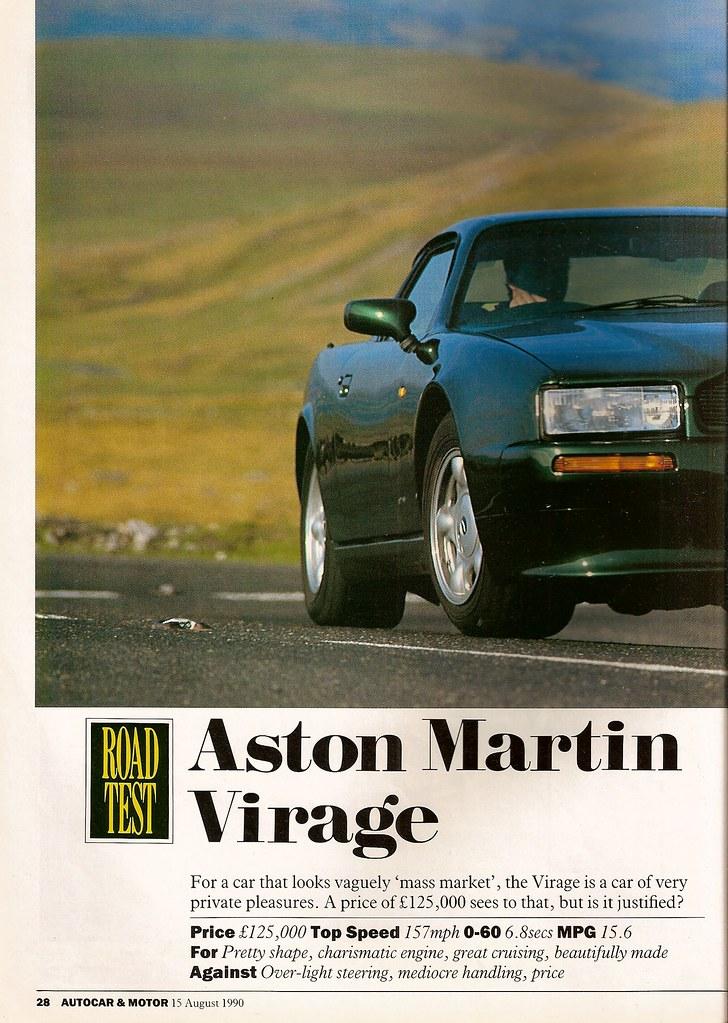 Vwvortex Aston Martin Virage Private Pleasures With Vaguely