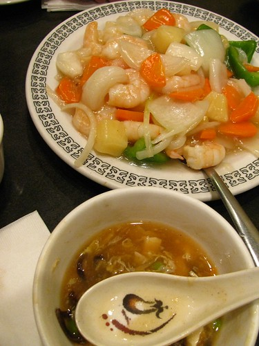 Pineapple Shrimp and Hot & Sour Soup @ Dragon Pearl