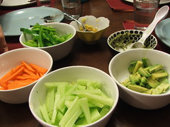 Fillings (Mess Maker Baker) Tags: green club night sushi avocado ginger cucumber sunday carrot supper wasabi peper fillings