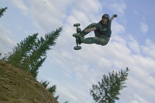 Tom Kirkman at Winterberg Mountain board park