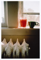 radiator tea (romajoy41) Tags: summer film ice glass coffee minnesota tea juice myhouse mug twincities saintpaul mn radiator teavana
