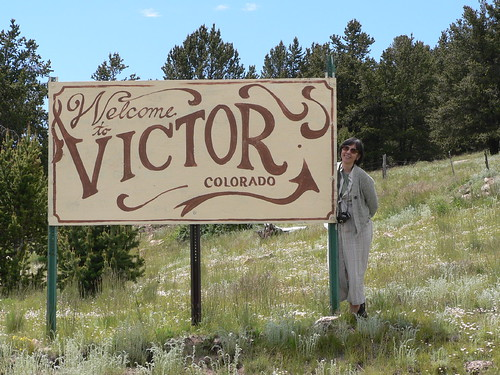 Signboard, North approach, Victor, CO (2009)