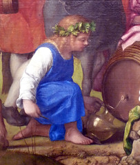 Giovanni Bellini and Titian, The Feast of the Gods detail with Baccus
