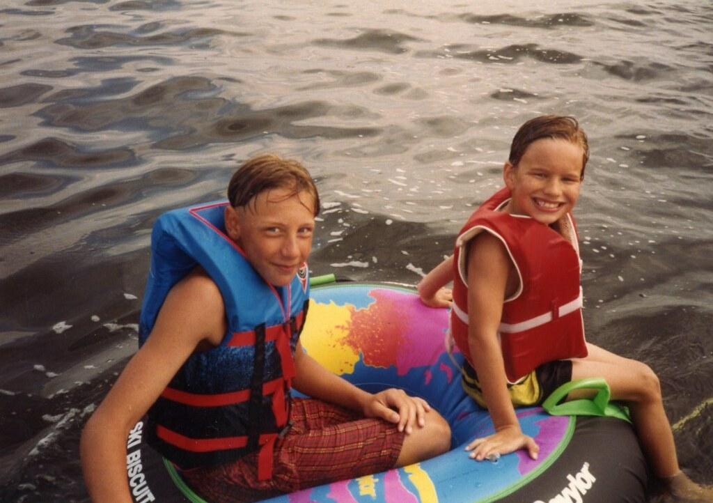 Levi And Tony On Shawno Lake Daniel M Hendricks Tags Lake Tony