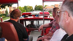 Riding on the open sightseeing deck. O' Leary's Fire Truck Tours. Chicago Illinois. Tuesday, july 14th 2009.