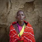 Mutete, shaved Masai Grandma - Kenya
