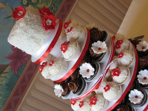 pictures of red and white wedding. Red, white and chocolate