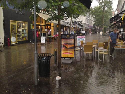Kongensgade in Rain and Thunder