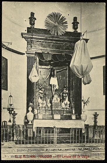Cristo de la Vega (Antigua Basílica de Santa Leocadia) a principios de siglo. Hacia 1913 por Castañeira