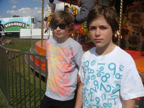 Gab & Cal at Ben & Jerry's Festival 2009