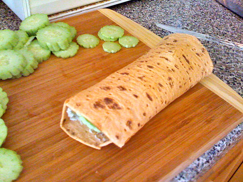 Flat Out and Laughing Cow Cucumber Wraps by LauraMoncur from Flickr