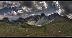 Mountainous Outlook (stetre76) Tags: sky panorama mountains alps tourism clouds landscape tirol scenery view stitch hiking pano scene alpen idyllic tyrol lizum harmonic axams