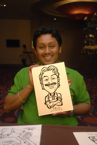 Caricature live sketching for Standard Chartered Bank - 10